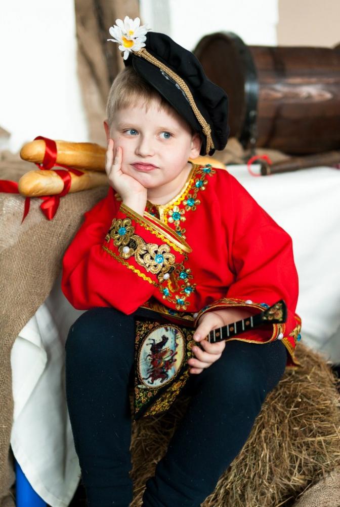 Народная мужская рубаха, детский костюм