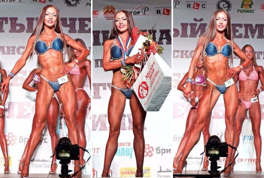 Елена Лабудова бронзовая призёрка Чемпионата Рязани Фитнес-бикини 2015